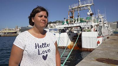 The woman challenging stereotypes in Europe's fishing industry