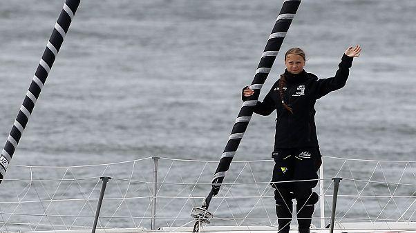 La joven ecologista Greta Thunberg viaja  en velero a la cumbre climática de Nueva York
