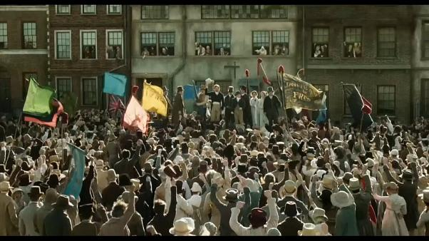"A scene from Mike Leigh's ""Peterloo"""