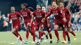 La gioia dei giocatori del Liverpool.