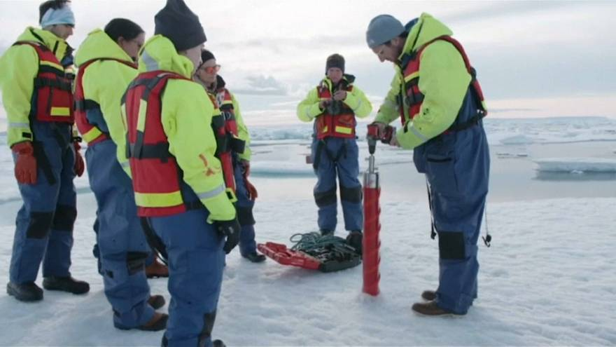 'Shock' as scientists find plastic microbeads in remote Arctic ice
