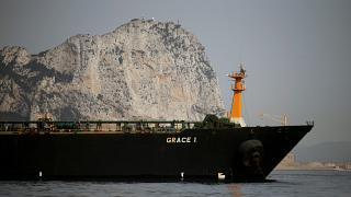 """الناقلة الإيرانية """"غريس 1"""" التي كانت محتجزة في جبل طارق"""