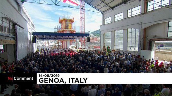 Um ano depois queda da ponte, Génova chora as vítimas