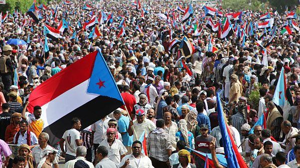 تظاهرات حامیان جدایی طلبان در عدن