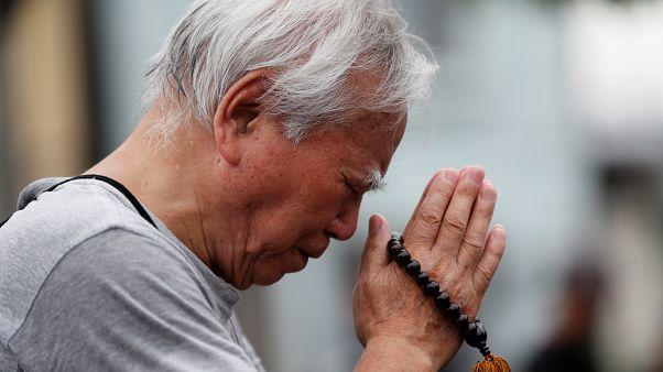Dua eden bir Japon Budist