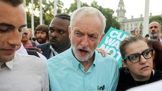 Jeremy Cprbyn ad una manifestazione a Londra, il 25 luglio 2019.