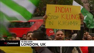 Manifestation à Londres contre la révocation de l'autonomie du Cachemire indien