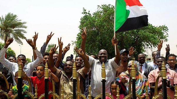 جانب من مسيرة احتجاجية في السودان