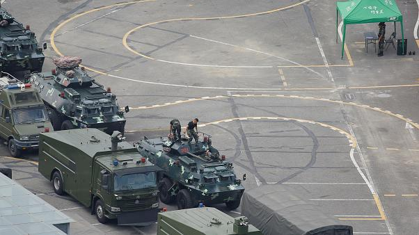 Военная техника у границ с Гонконгом
