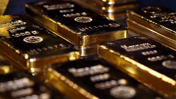 سبائك من الذهب في ألمانيا يوم 14 أغسطس آب 2019