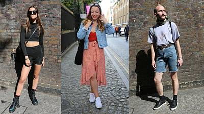 These stylish individuals were captured out and about on London's Brick Lane
