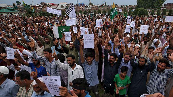 تظاهرات در کشمیر تحت کنترل هند