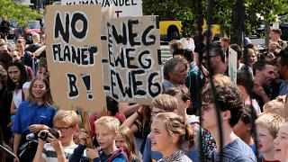 Berlin students skip school for climate change protest