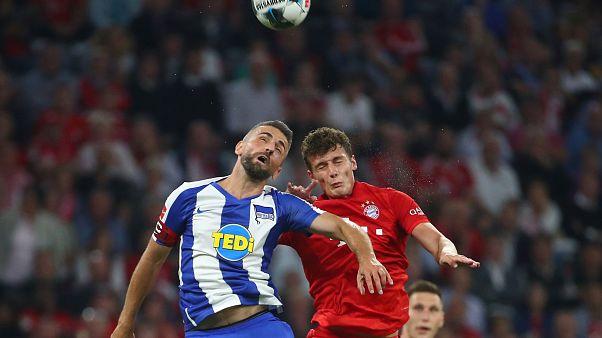 Fußball-Bundesliga: 2:2 unentschieden zwischen Hertha und Bayern