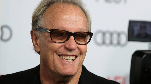 "Peter Fonda arriving for the screening of ""The Ballad of Lefty Brown"" in 2017"