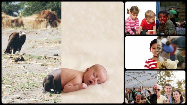 2 farklı dünya, 1 fotoğraf: Sanatçı Uğur Gallenkuş'un insanlara vermek istediği 2 farklı mesaj