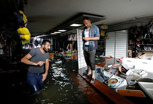 Watch: Heavy rain floods Istanbul's Grand Bazaar