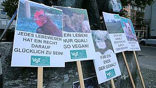 Manifestação em Zurique pelos direitos dos animais
