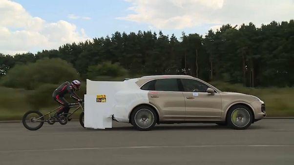 Neil Campbell achieved his goal on a custom-built bike