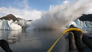 """We survived"" - kayakers flee collapsing glacier"