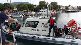 Çanakkale'den Yunan adasına kaçak yolla geçmeye çalışan 330 göçmen yakalandı