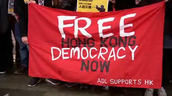 Ausztráliában is tüntettek a hongkongi demokráciáért
