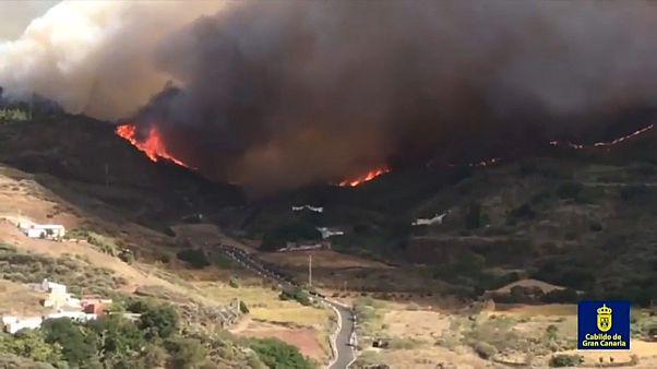 Γκραν Κανάρια: Ανεξέλεγκτη η πυρκαγιά - Χιλιάδες εγκαταλείπουν το νησί