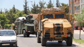 Suriye Haber Ajansı: Türk ordusuna ait mühimmat dolu konvoy Suriye'nin kuzeybatısına girdi