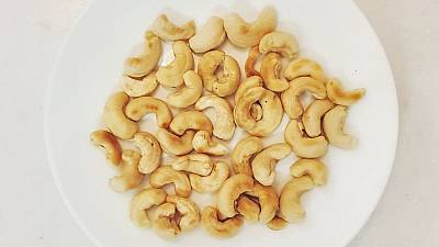 Cashew nuts on a plate