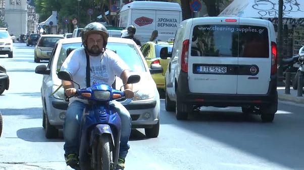 Ago Kouitimi driving through Athens