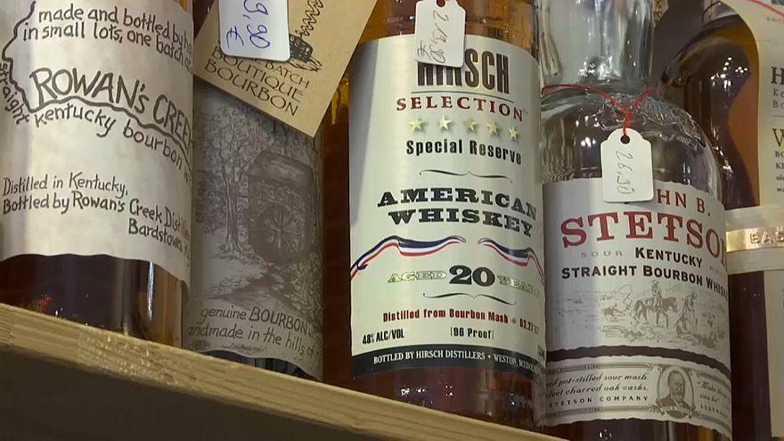 Boudé par l'UE, le whisky américain trinque