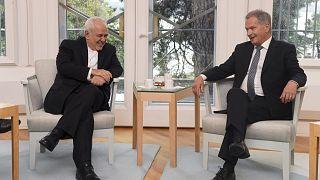 دیدار وزیر خارجه ایران با رییسجمهوری فنلاند / عکس از رویترز
