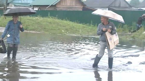 Мощный паводок в Приморье