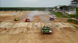 Rússia vence mundial de biatlo para tanques