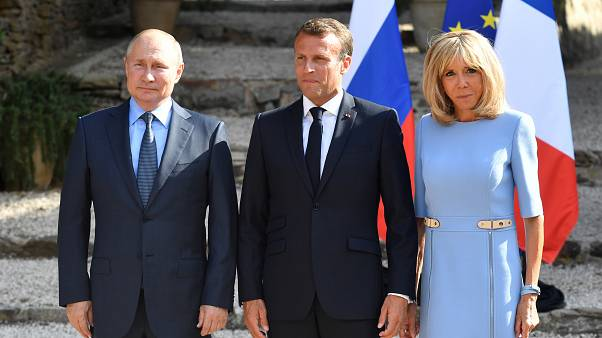 Macron urges Putin to respect free speech and democracy at pre-G7 talks