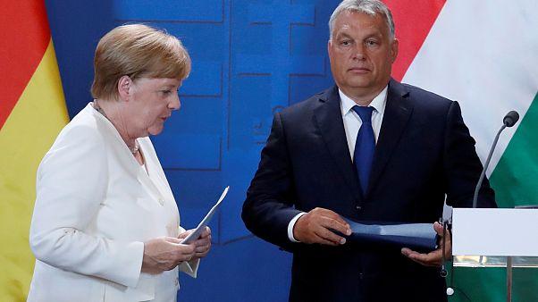 Orbán-Merkel: békülékeny hangnem egyetértés nélkül