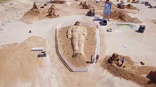 Festival in Israel: Aschenputtel als Sandskulptur