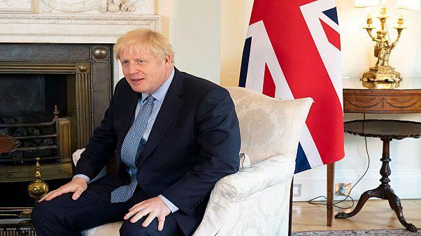 رئيس الوزراء البريطاني بوريس جونسون في لندن يوم 6 أغسطس آب 2019 / رويترز