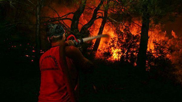 Bewohner fordern mehr Hilfe im Kampf gegen Feuer bei Izmir