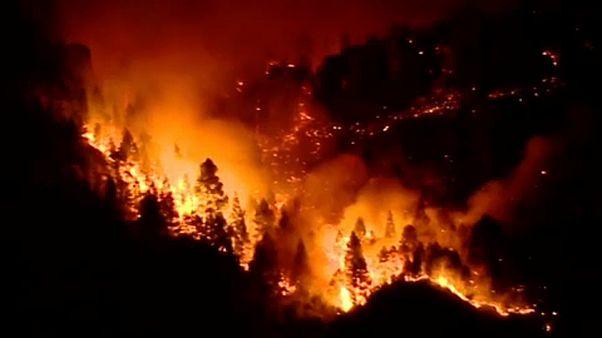 Incêndio na Grã Canária perde força mas ainda está por dominar