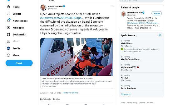 Open Arms, funzionario UNHCR critica i migranti che chiedono asilo in Europa a tutti i costi