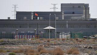 Doğu Türkistan'ın Kaşgar kentinde bir toplama kampı