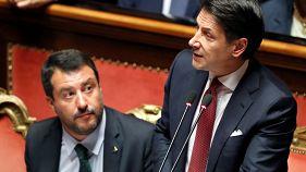 """Conte annuncia le dimissioni e attacca Salvini: """"Irresponsabile e opportunista"""""""