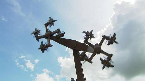 An amusement park ride in Germany has been closed due to its similarity to a swastika.