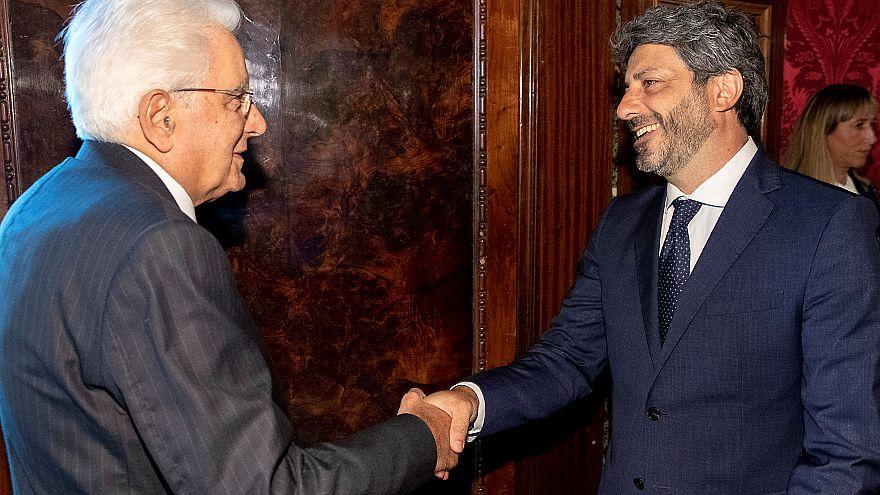 Il presidente della Repubblica con il presidente della Camera