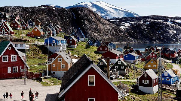 Danimarka'ya bağlı Grönland'in batısındaki Upernavik kentinden genel görünüm