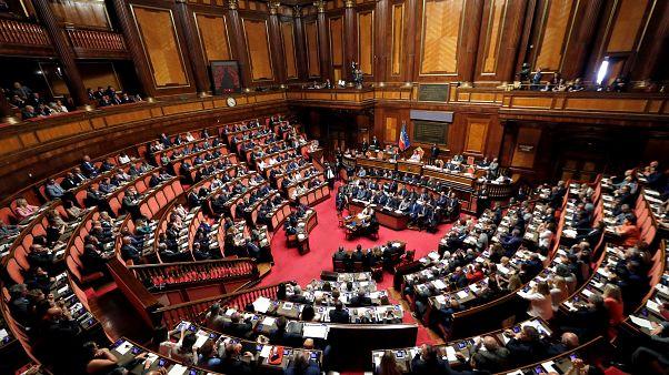 البرلمان الإيطالي خلال إحدى الجلسات (أرشيف)