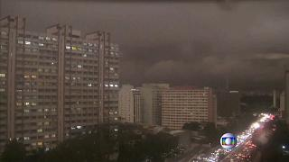 Darkness in Sao Paolo in middle of the afternoon