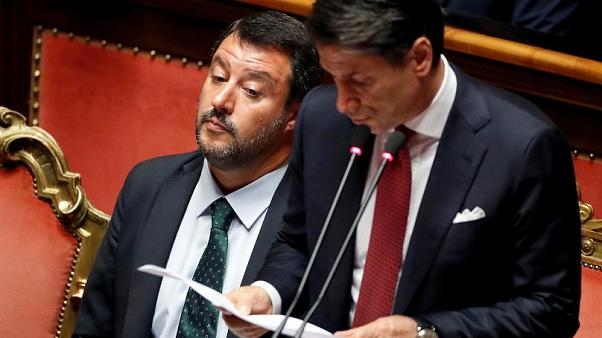 Italy's Prime Minister Giuseppe Conte resigns on Wednesday.
