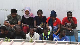 Centre d'accueil à Lampedusa, le 21 août